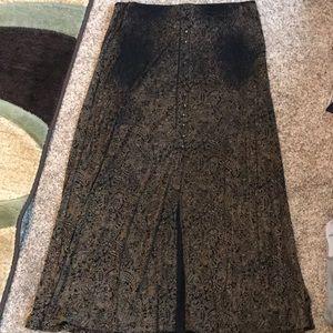 XL Briggs New York Women's Maxi Skirt with slit